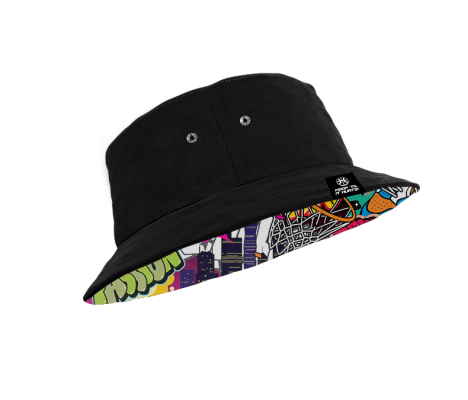 Black Bucket Hat Transparent 2