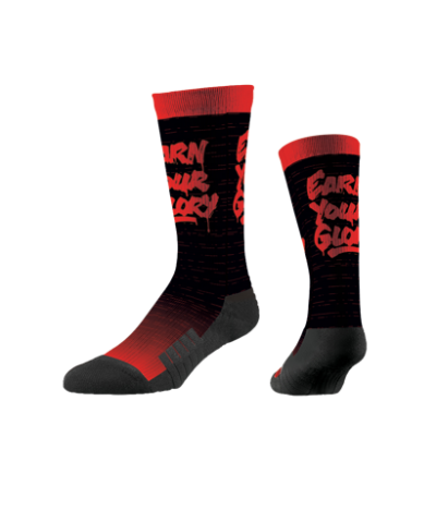 Earn Your Glory Socks Graphic